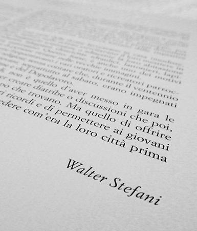 Memorie di Walter Stefani