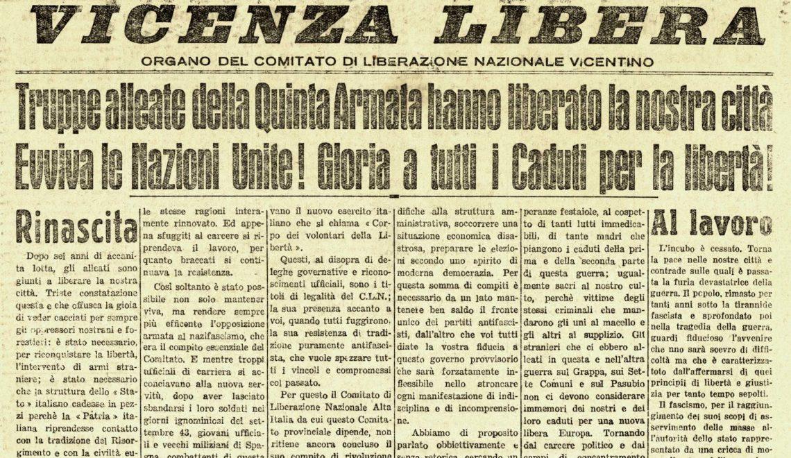 Vicenza Libera - 25 aprile festa della Liberazione